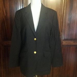 EUC 346 Brooks Brothers Italian Wool Navy Blazer